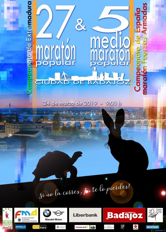 27 MARATÓN POPULAR Y 5º MEDIO MARATÓN POPULAR CIUDAD DE BADAJOZ
